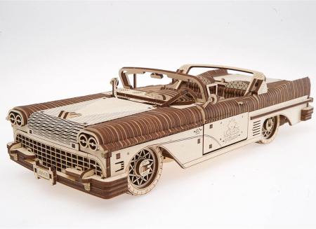 Puzzle 3D Dream Cabriolet VM-05 din lemn Ugears13