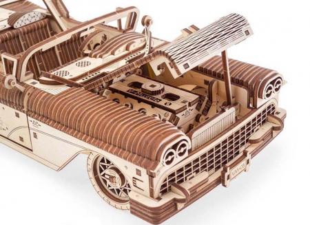 Puzzle 3D Dream Cabriolet VM-05 din lemn Ugears12