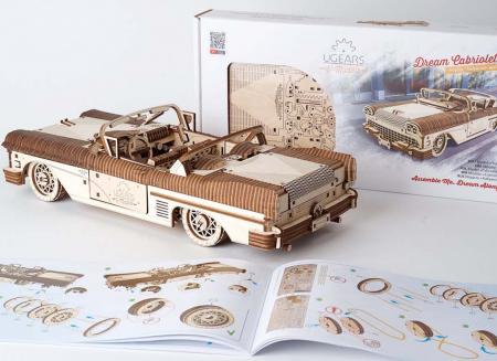Puzzle 3D Dream Cabriolet VM-05 din lemn Ugears14