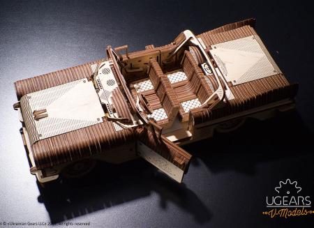 Puzzle 3D Dream Cabriolet VM-05 din lemn Ugears5