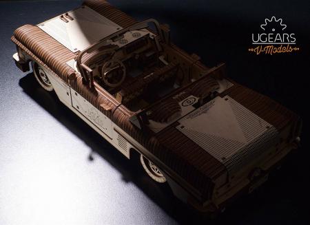Puzzle 3D Dream Cabriolet VM-05 din lemn Ugears6
