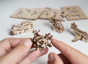 Puzzle 3D Fidget Avioane din Lemn Ugears2