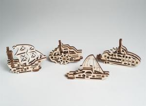 Puzzle 3D Fidget Nave Maritime din Lemn Ugears [4]
