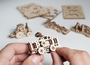 Puzzle 3D Fidget Vehicule din Lemn Ugears1