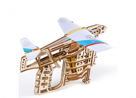 Puzzle 3D Flight Starter din lemn Ugears14