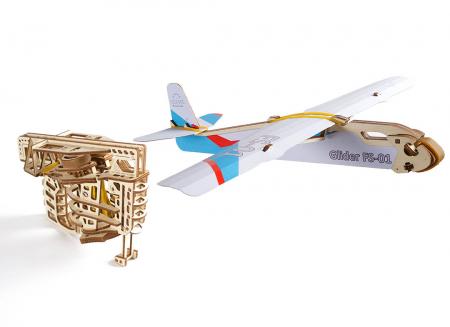 Puzzle 3D Flight Starter din lemn Ugears13