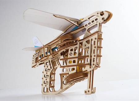 Puzzle 3D Flight Starter din lemn Ugears12