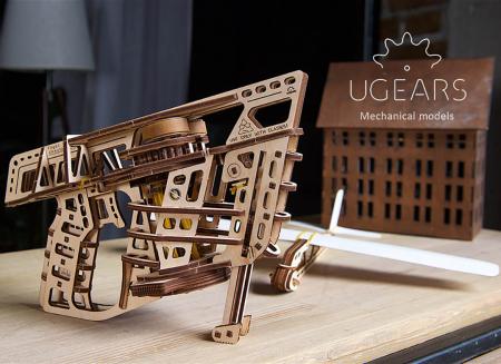 Puzzle 3D Flight Starter din lemn Ugears6