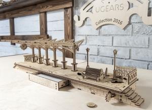 Puzzle 3D Gara din Lemn Ugears [4]