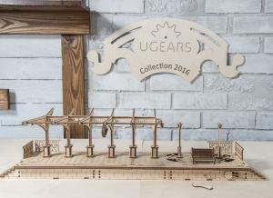 Puzzle 3D Gara din Lemn Ugears [11]