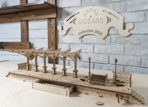 Puzzle 3D Gara din Lemn Ugears [13]