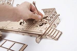 Puzzle 3D Gara din Lemn Ugears [3]