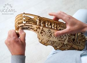 Puzzle 3D Instrument Muzical - Vioara din Lemn Ugears [8]