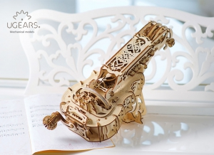 Puzzle 3D Instrument Muzical - Vioara din Lemn Ugears [2]