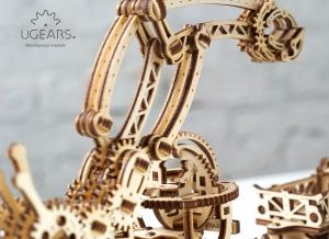 Puzzle 3D Macara pe Sine din Lemn Ugears8