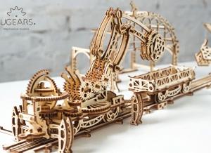 Puzzle 3D Macara pe Sine din Lemn Ugears10