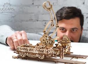 Puzzle 3D Macara pe Sine din Lemn Ugears1