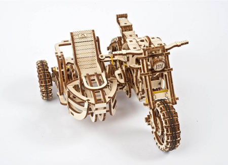 Puzzle 3D Motocicleta Scrambler UGR-10 din lemn Ugears3