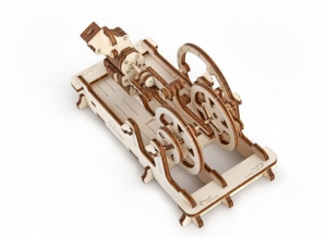Puzzle 3D Motor Pneumatic din Lemn Ugears4