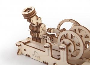 Puzzle 3D Motor Pneumatic din Lemn Ugears11