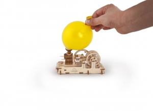 Puzzle 3D Motor Pneumatic din Lemn Ugears5