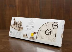 Puzzle 3D Motor Pneumatic din Lemn Ugears12