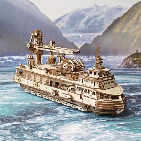 Puzzle 3D Nava de cercetare din lemn Ugears0