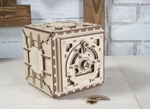 Puzzle 3D Seif din Lemn Ugears17