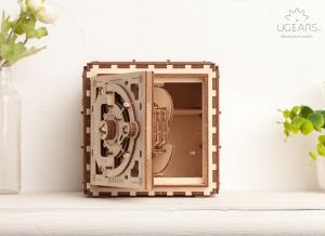 Puzzle 3D Seif din Lemn Ugears14