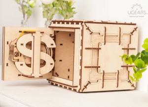 Puzzle 3D Seif din Lemn Ugears15