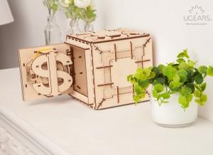 Puzzle 3D Seif din Lemn Ugears16