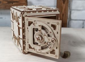 Puzzle 3D Seif din Lemn Ugears19