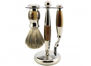 Set cadou barbati pentru barbierit 3 piese Light Horn Mach3, Edwin Jagger4