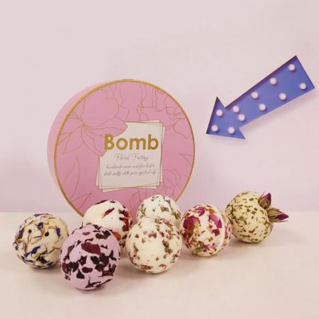 Set cadou sare de baie 7 arome Floral Fantasy, Bomb Cosmetics3