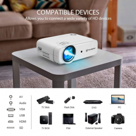 Videoproiector LED Vankyo Leisure 430, 4000 Lumeni, Geanta transport si telecomanda2
