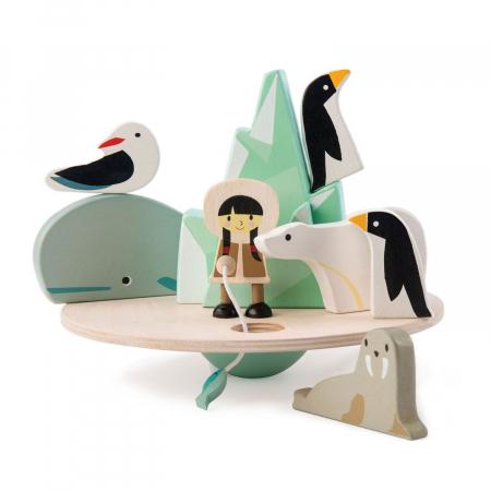 Aisberg plutitor jucarie din lemn educativa, 9 piese2