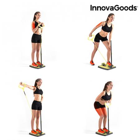 Aparat fitness pentru picioare si muschi fesieri cu ghid de exercitii4
