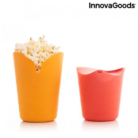 Aparat popcorn fara ulei, Popbox pliabil, din silicon7