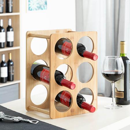 Bamboo Rack pentru 6 sticle de vin0