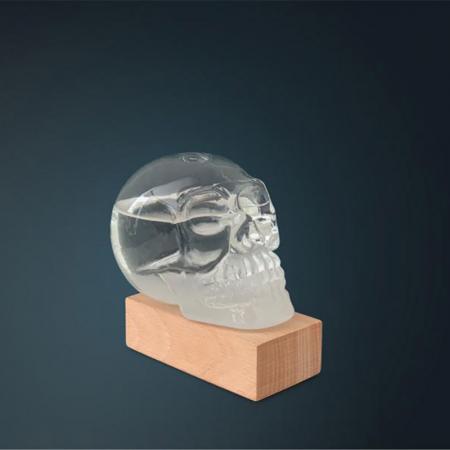 Barometru Craniu cu stativ din lemn [1]