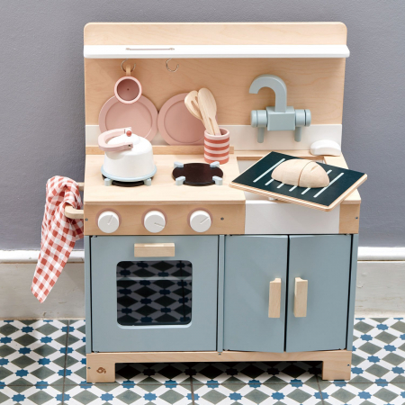 Bucatarie din lemn pentru copii, Mini Chef Home Kitchen, 16 piese0