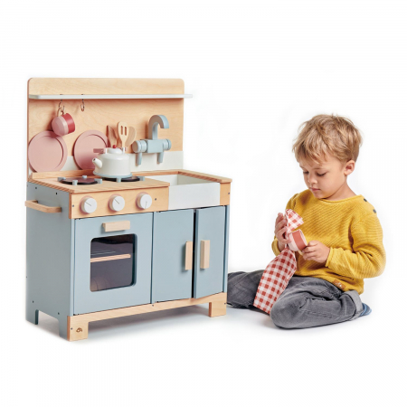 Bucatarie din lemn pentru copii, Mini Chef Home Kitchen, 16 piese2