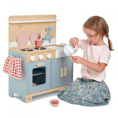 Bucatarie din lemn pentru copii, Mini Chef Home Kitchen, 16 piese1