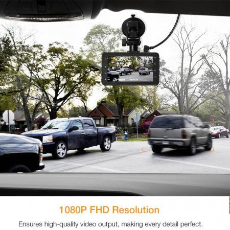 Camera auto DVR Apeman C450, Full HD, G-Sensor, Mod parcare, Filmare in bucla3