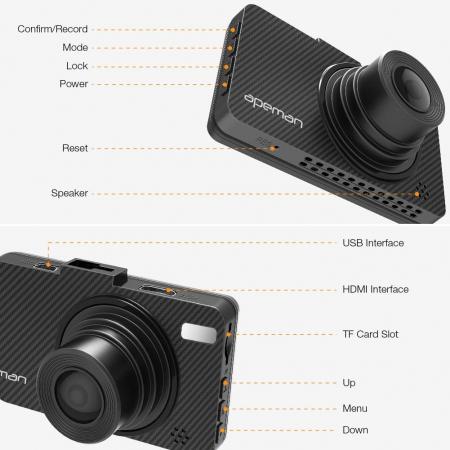 Camera auto DVR Apeman C450, Full HD, G-Sensor, Mod parcare, Filmare in bucla6