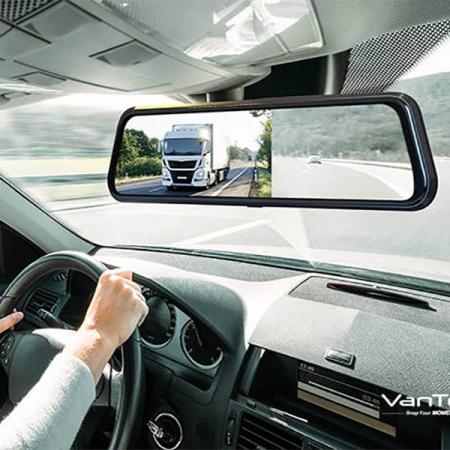 Camera auto DVR Dubla Oglinda VanTop H610, 2.5K, Bord si Spate, Touch-Screen, Senzor Sony IMX 3350