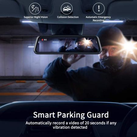 Camera auto DVR Dubla Oglinda VanTop H610, 2.5K, Bord si Spate, Touch-Screen, Senzor Sony IMX 3356