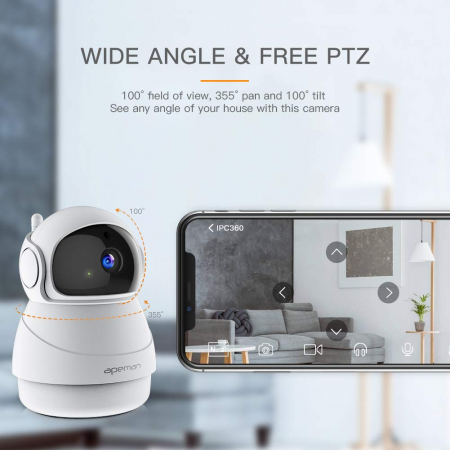 Camera supraveghere Wireless Apeman ID73, Full HD, Infrarosu1