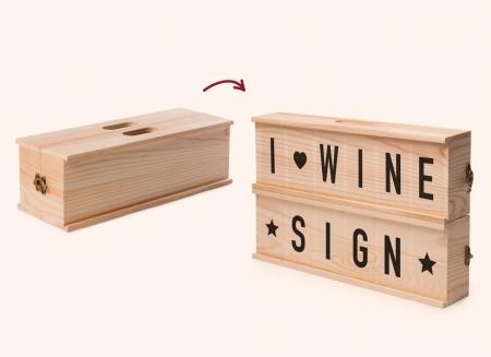 Caseta cu mesaje pentru vin0