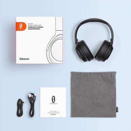 Casti audio TaoTronics cu bas puternic si true wireless, Bluetooth 5.0, Active Noise canceling4